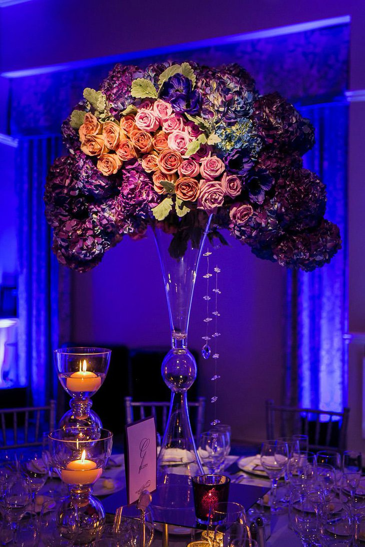 Mesmerizing Purple Floral Arrangement for Weddings
