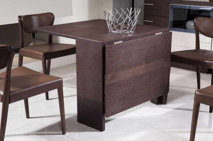 Modern Coffee Oak Extendable Dining Table