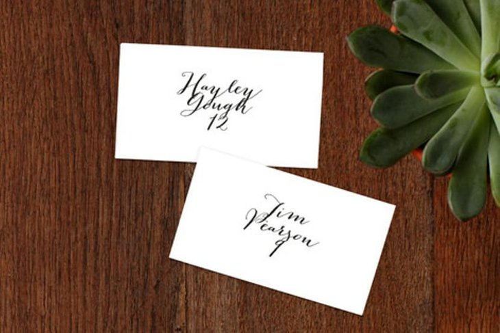 Modern Mint Wedding Place Cards
