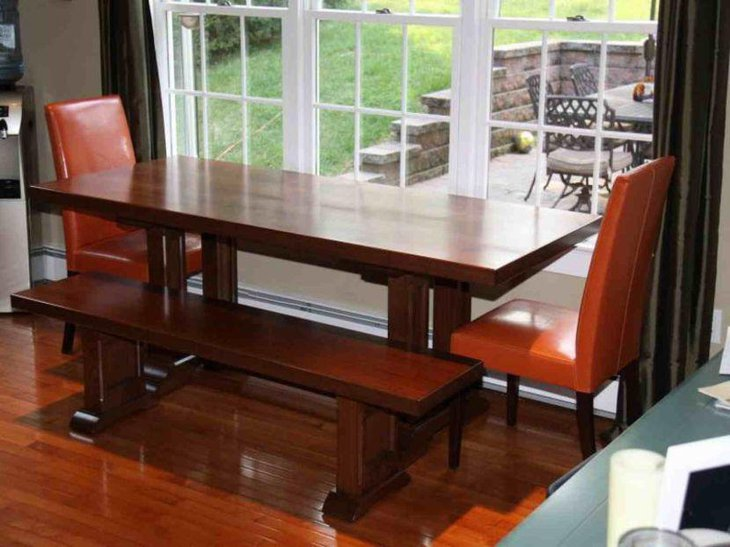 Modern Wooden rectangular Extendable Dining Table For Small Space