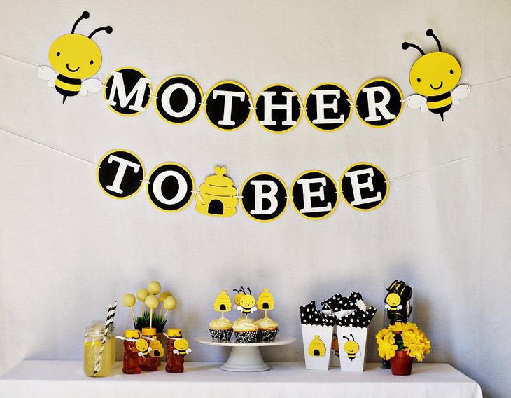 Mommy to Bee Spring Baby Shower Ideas