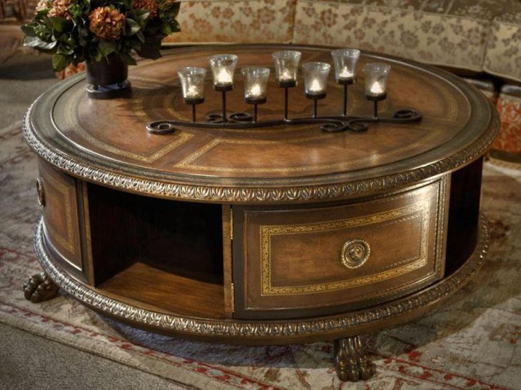 Old style coffee table with storage space