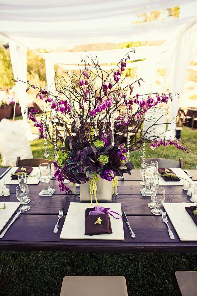 37 Trendy Purple Wedding Table Decorations | Table Decorating Ideas