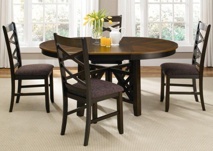 Oval Wooden Small Dining Table Set
