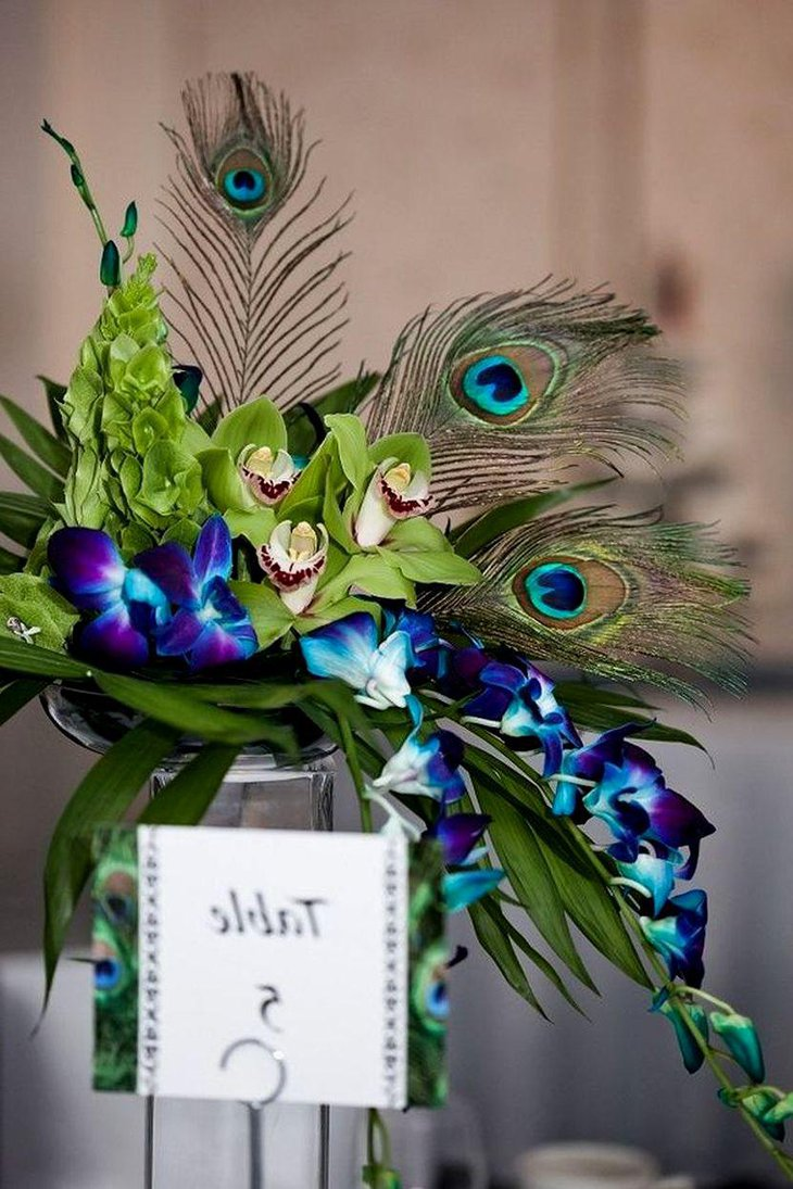 33 Gorgeous Peacock Centerpieces Table Decorating Ideas