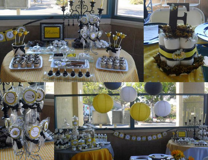 31 Bee Themed Baby Shower Decorations Table Decorating Ideas