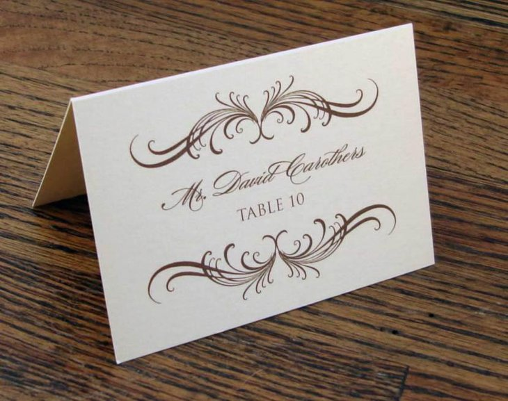 place card with name and table number