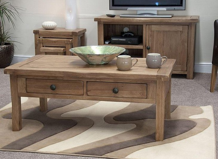 Pottery barn rustic coffee table set