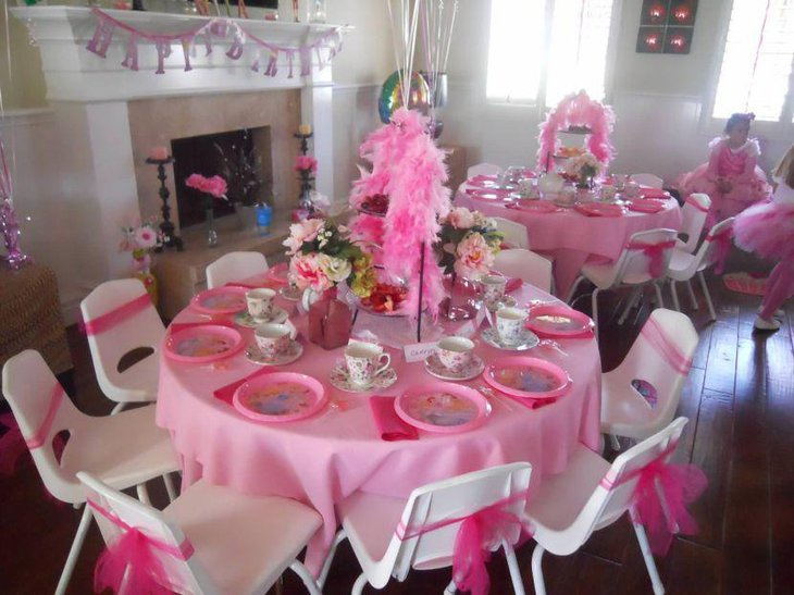 Princess themed kids tea party idea