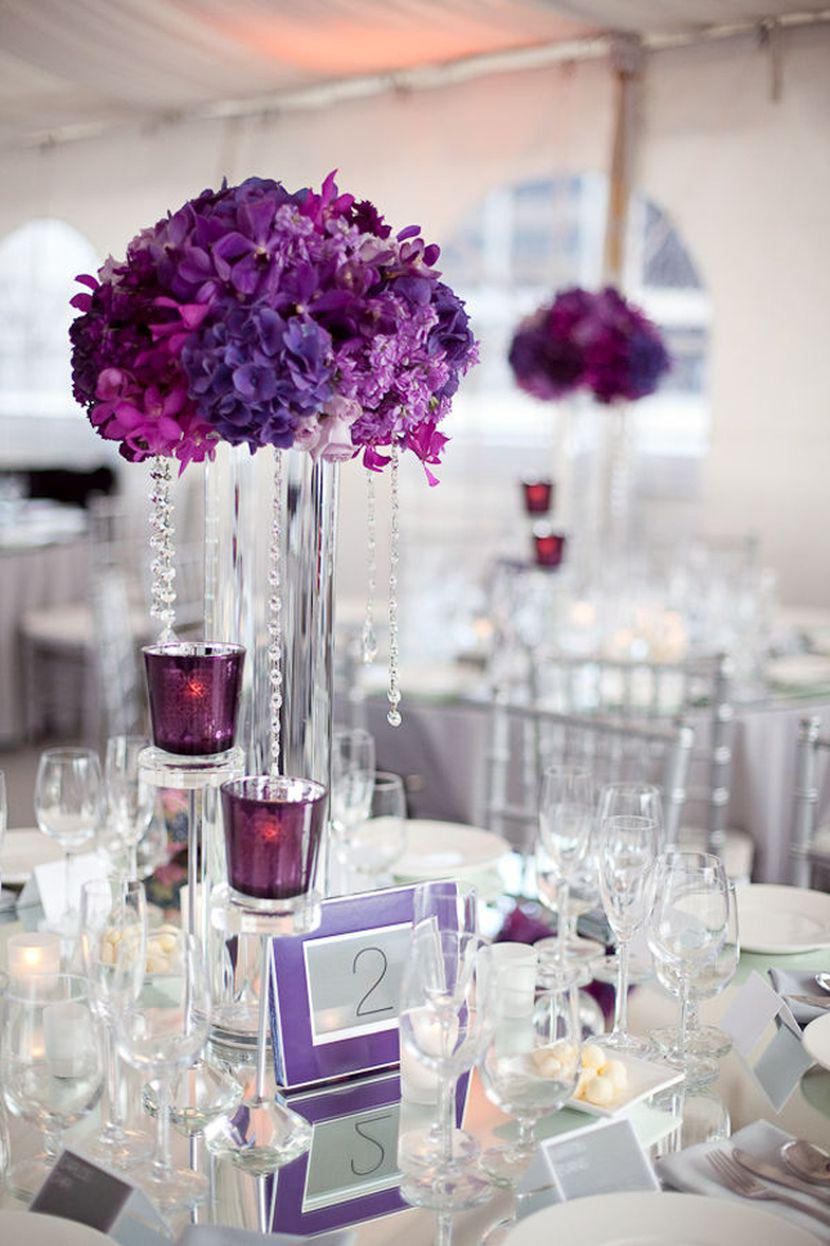 37 Trendy Purple Wedding Table Decorations | Table Decorating Ideas