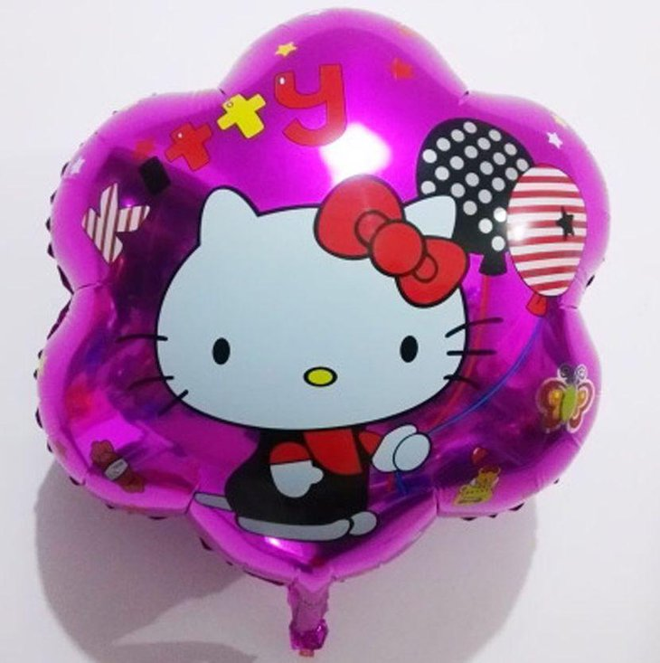 Purple Hello Kitty foil balloons for party decorations