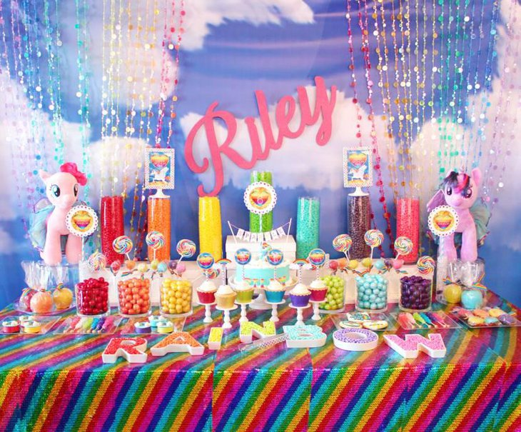 Rainbow Candy Table