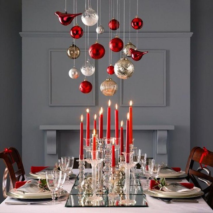 33 Red And Silver Table Setting Ideas for Christmas   Table ...