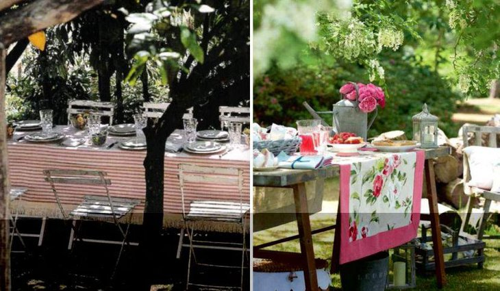 Remarkable guest table setup for outdoor summer party