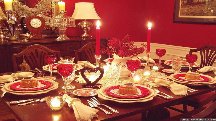 Romantic Table Setting with Candles