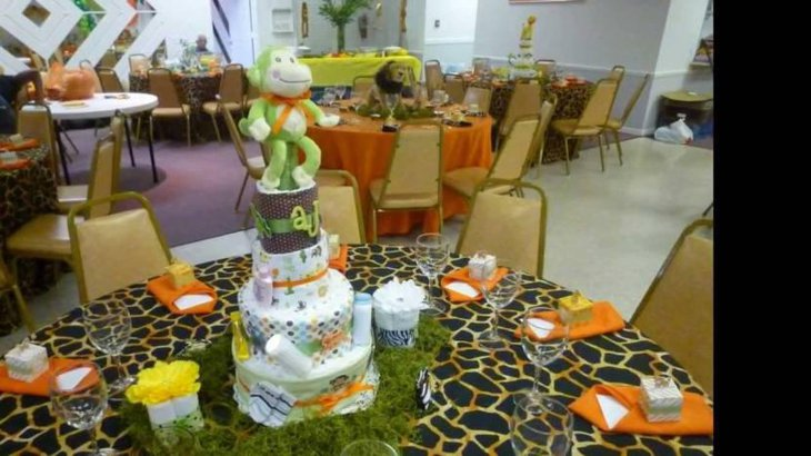 31 jungle theme baby shower table decoration ideas for Baby shower decoration set