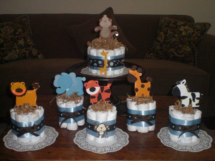 33 fantastic baby shower centerpiece ideas table for Baby decoration safari