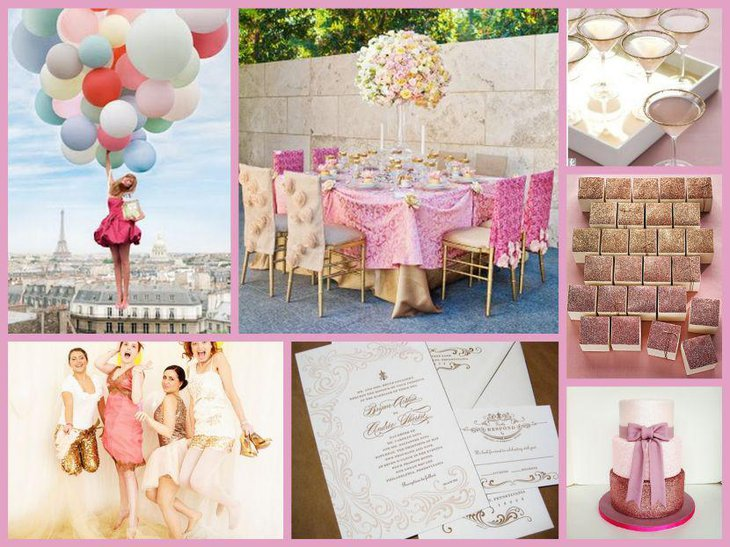 Search magazines and books for different wedding table centerpieces and maintain a record of it