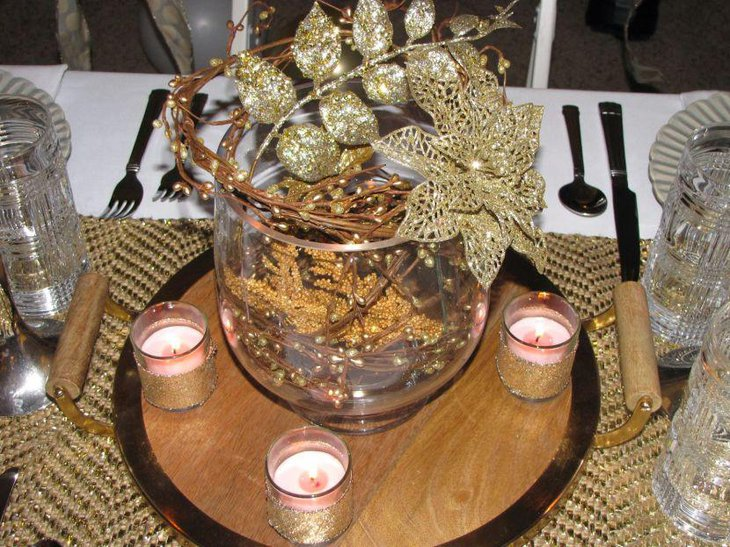 Golden Wedding Centerpieces.35 Amazing Gold Wedding Decorations Table Decorating Ideas