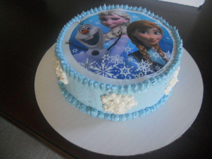 Simple and elegant Frozen birthday cake