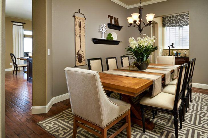 35 inspiring dining room decorating ideas table for Simple dining room table decor