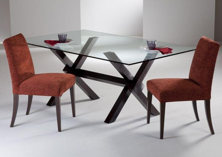 Simple Rectangular Glass Dining Table
