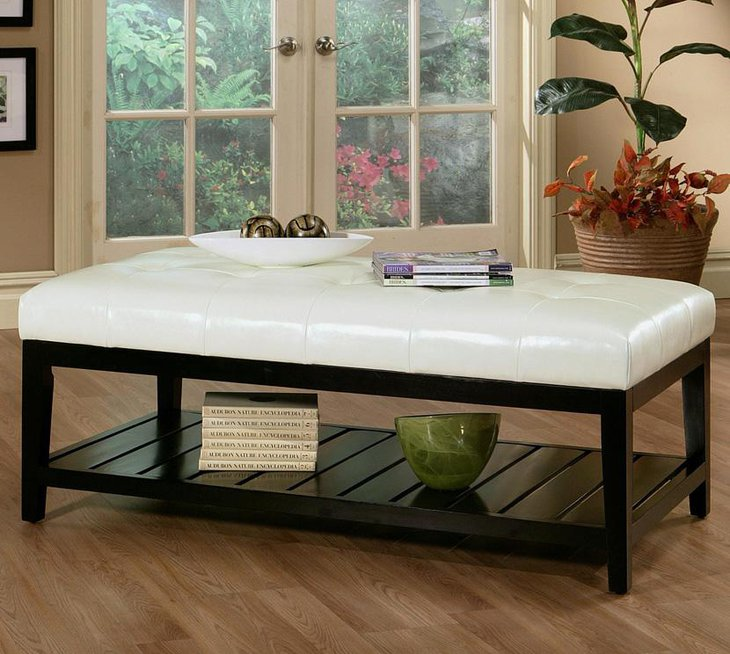 Sleek and Sophisticated Cushioned DIY Coffee Table