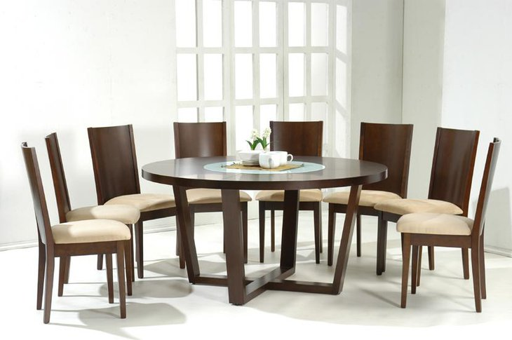 37 elegant round dining table ideas table decorating ideas for Sleek dining table designs