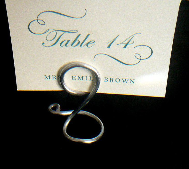 Small Silver Place Card Holders