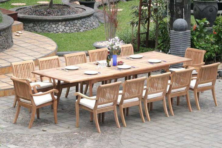 Smart Outdoor Expandable Dining Table Made Of Wood