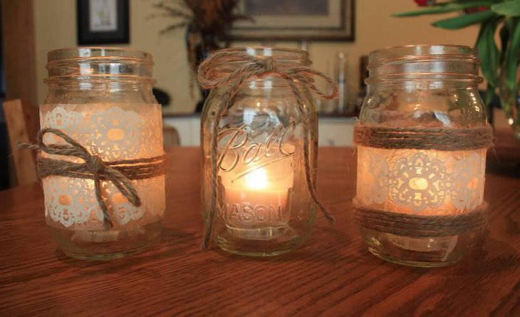 Spider Mason Jar Votives