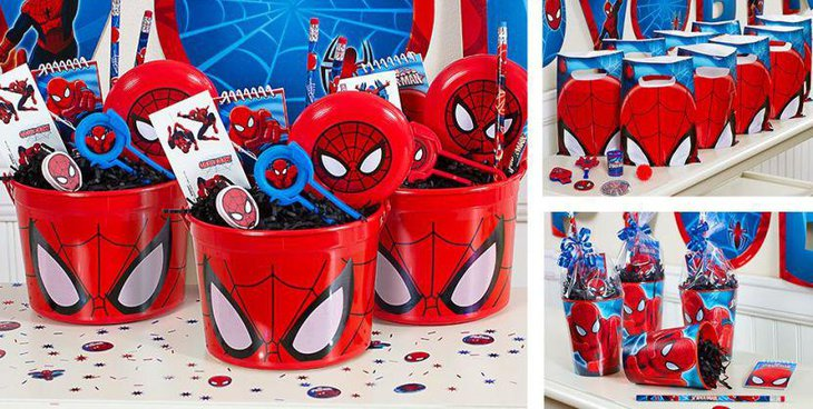 37 cute spiderman birthday party ideas table decorating for Spiderman decorations