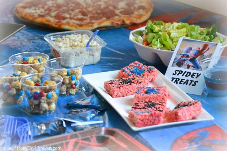 Spiderman Party Food Table