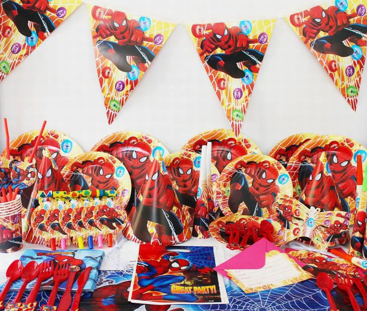 Spiderman Theme Party Decorations