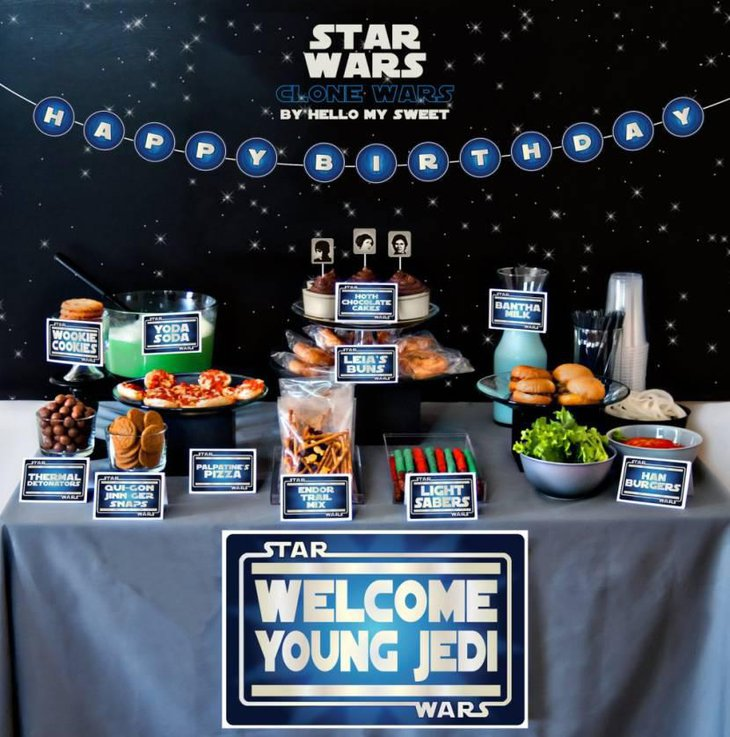 Star Wars Party Buffet Table