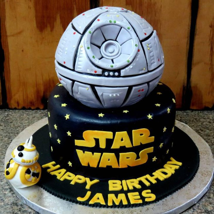 Star Wars Themed Birthday Cake