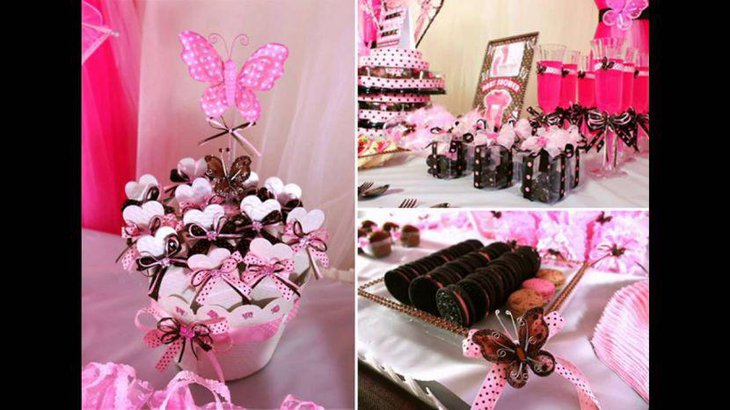 Stunning butterfly baby shower centerpiece idea