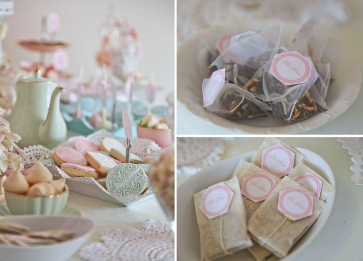 Stunning Doily tea party favors ideas