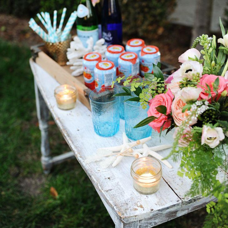 Stunning flower decor for outdoor party