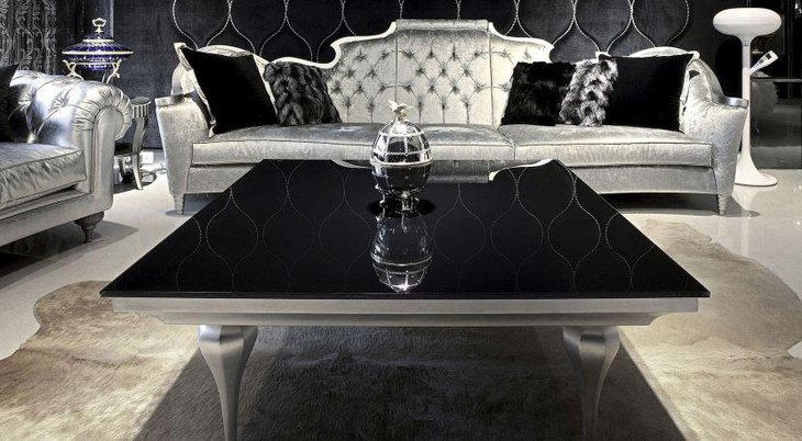 Stunning silver coffee table centerpiece
