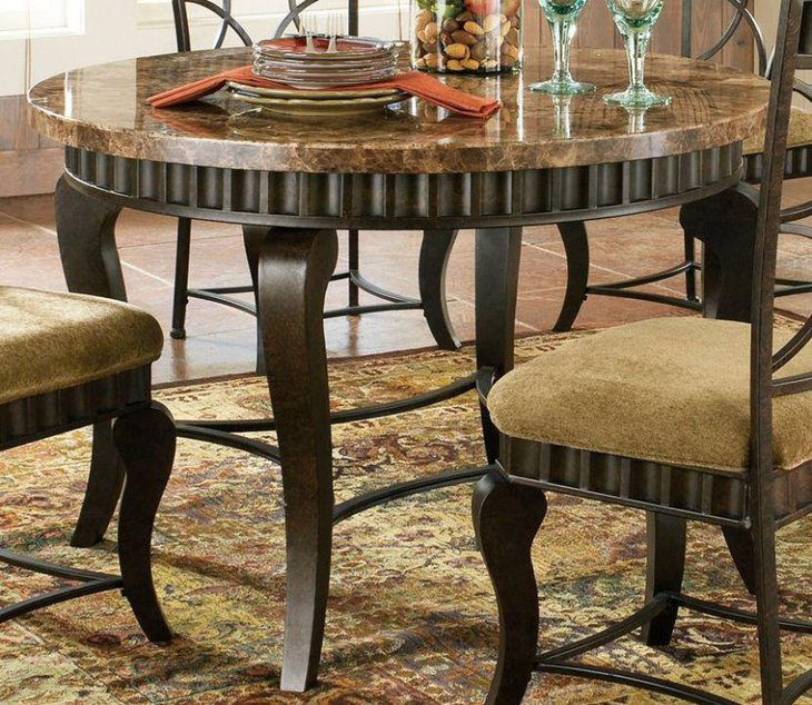 Granite Round Dining Table: 39 Elegant Granite Dining Room Table Ideas