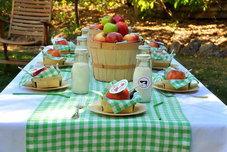 Summer themed garden party food table idea