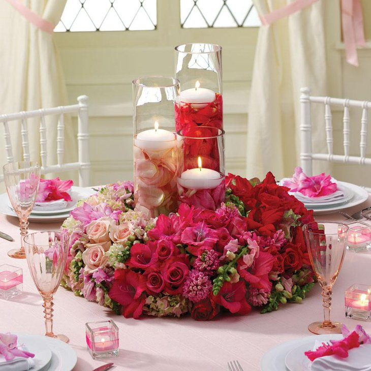Summer Wedding Centerpieces with Flowers