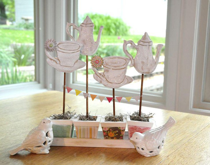 Sweet DIY tea party centerpiece