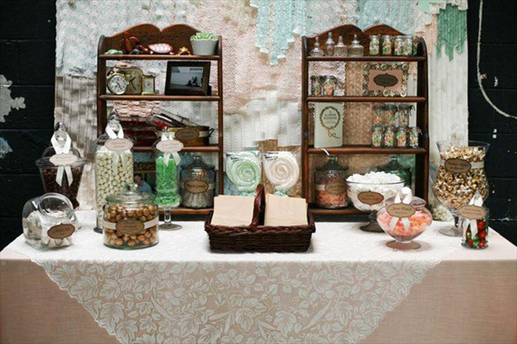 31 DIY Candy Table Ideas For Wedding | Table Decorating Ideas