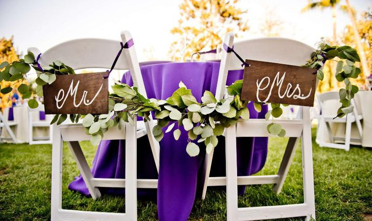 Table Numbers and Easels for the bride and groom