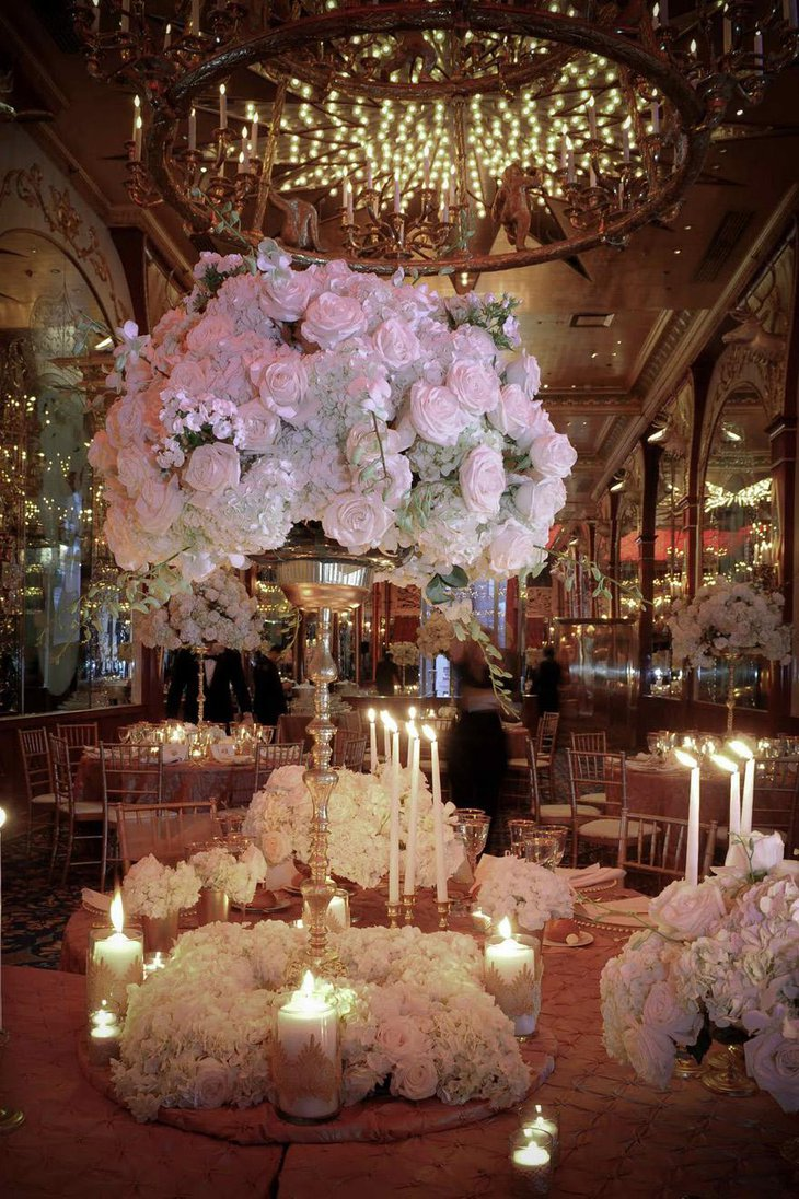 Tall White Flower Centerpieces for Wedding