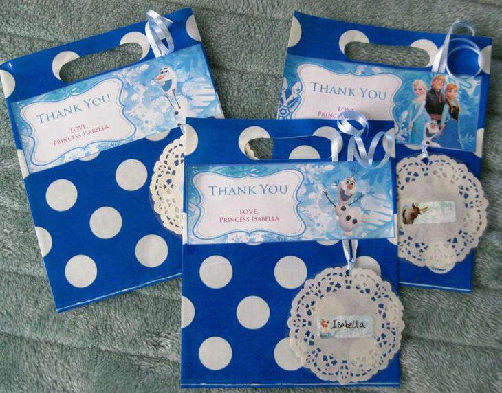 Thank You Frozen party favors for a birthday party