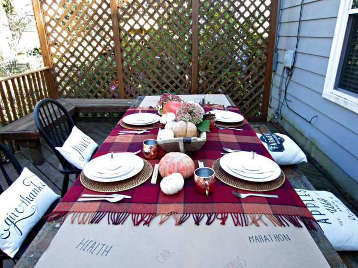Thanksgiving Brown Paper Table Runner