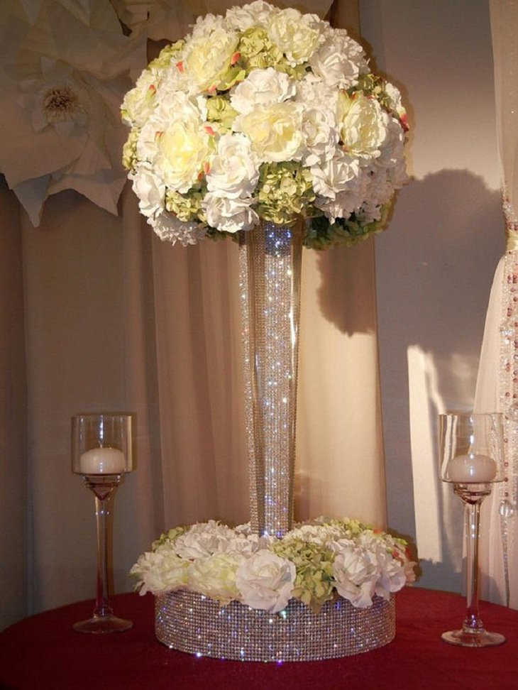 crystal decor for weddings 31 table centerpieces ideas for new year s table 3206